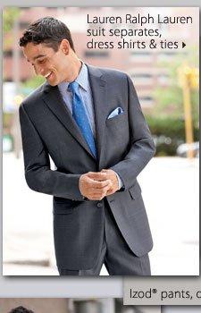 Lauren Ralph Lauren suit separates, dress shirts and ties.