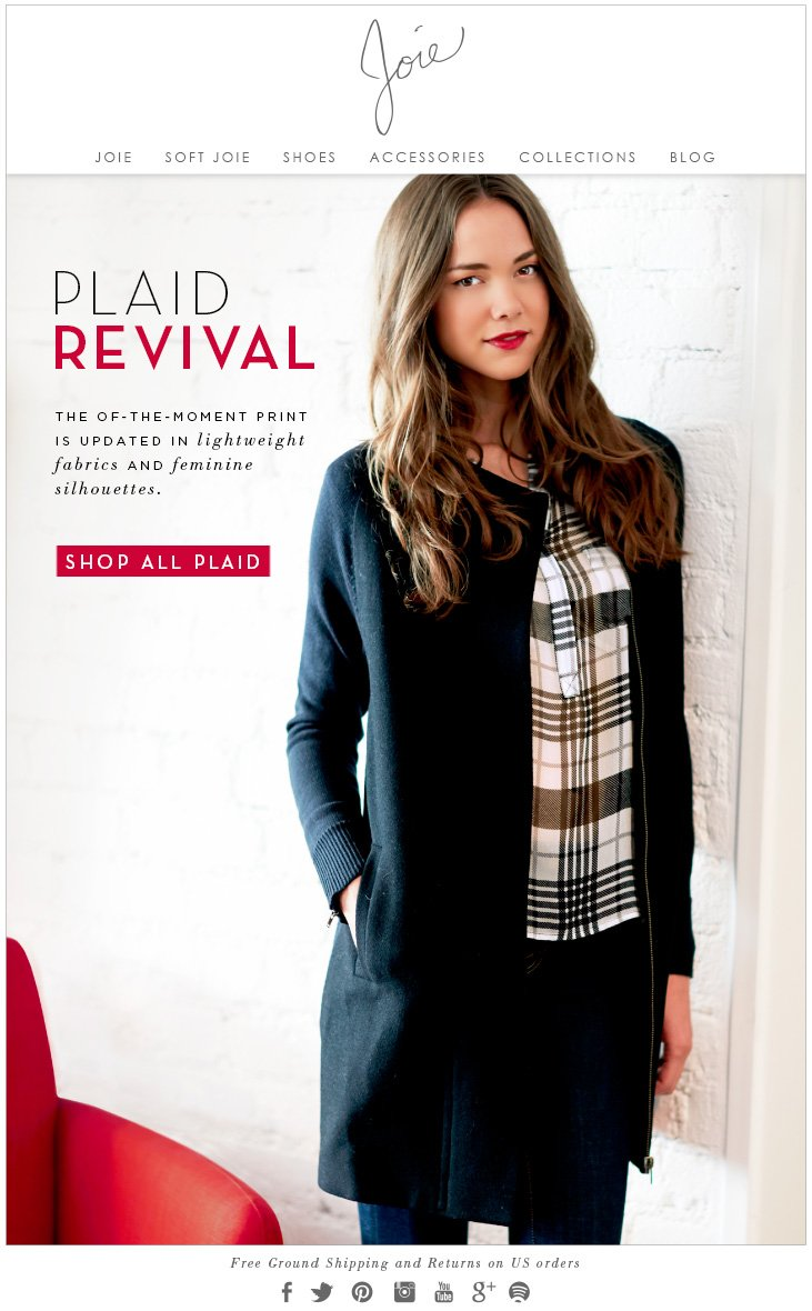 PLAID REVIVAL THE OF-THE-MOMENT PRINT IS UPDATED IN lightweight fabrics and feminine silhouettes.