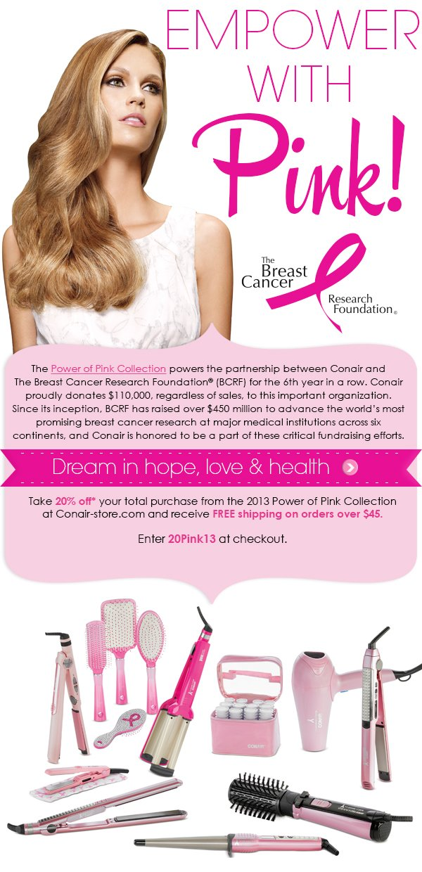 Fight breast cancer with Conair
