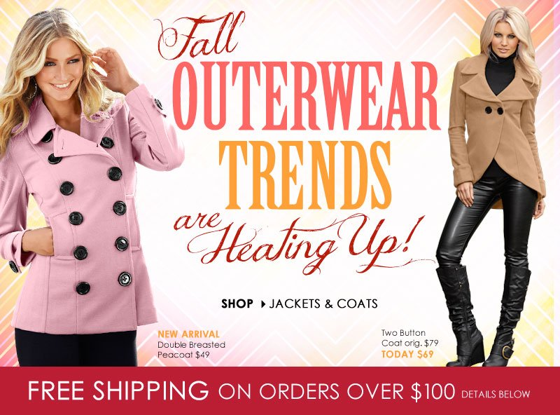 Fall Outerwear Trends are HEATING UP! Shop Jackets and Coats
