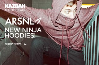Marketplace: ARSNL - New Ninja Hoodies in Stock!