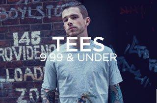 Tees $9.99 & Under