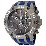 Invicta 12085 Men's Reserve Subaqua Specialty Grey Dial Blue Rubber Strap Chronograph Stainless Steel Dive Watch