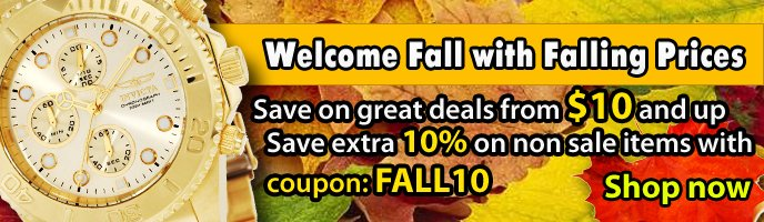 Discount Watch Store Fall Sale