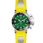 Invicta 80220 Men's Corduba Green Dial Yellow Rubber Strap GMT Dive Watch