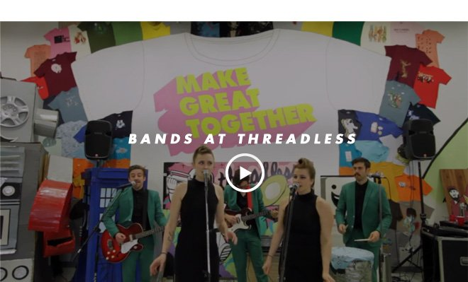 Bands at Threadless