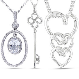 Glittering Pendants: Diamonds & Gems