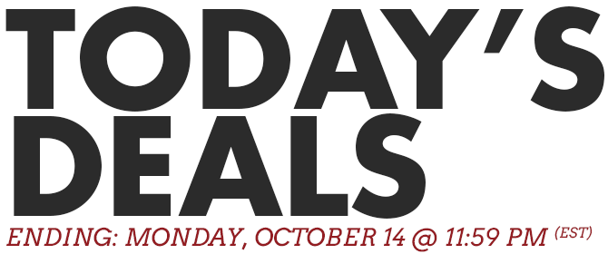 Today's Deals - Ending Monday, October 7