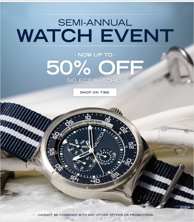 NAUTICA Semi-Annual Watch Event Starts Now!