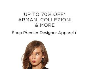 Up To 70% Off* Armani Collezioni & More