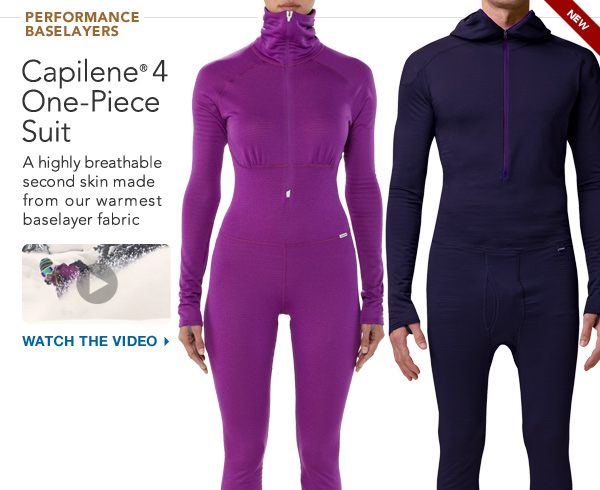 Capilene® 4 On-Piece Suit: A highly breathable second skin made from our warmest baselayer fabric