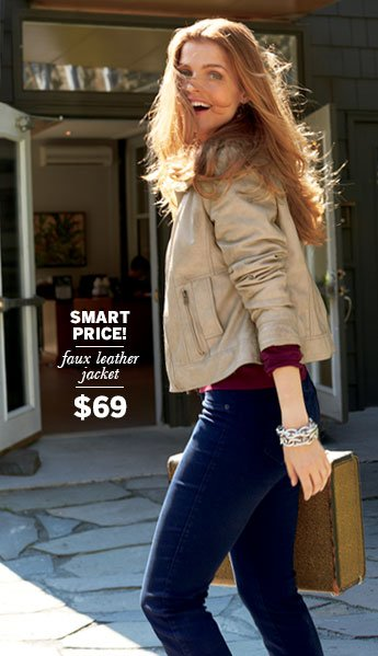 Smart Price! Faux Leather Jacket $69