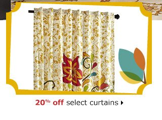 20% off select curtains