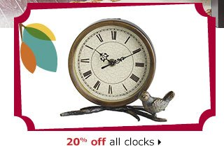 20% off all clocks