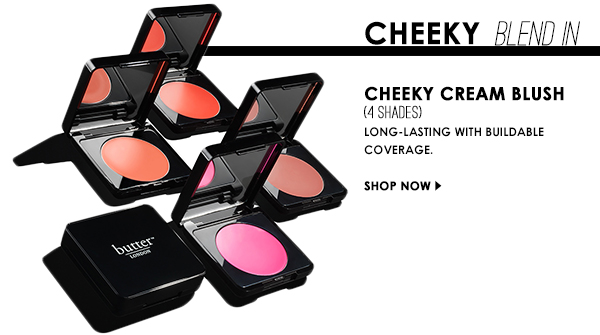 Cheeky Cream Blush, Long-lasting with buildable coverage.