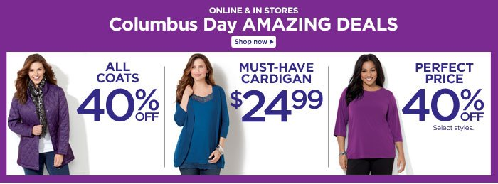 Columbus Day Amazing Deals