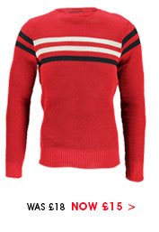 Sports Stripe Crew Jumper