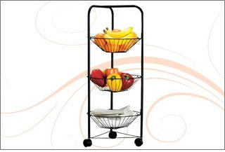 3-Tier Rolling Cart with Baskets
