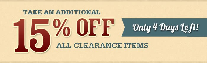 Additional Savings Off Clearance
