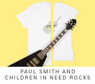 PAUL SMITH AND CHILDREN IN NEED ROCKS