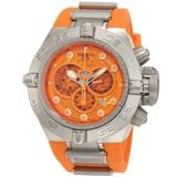 Invicta 1386 Men's Subaqua Noma IV Orange Dial Chronograph Orange Rubber Strap Dive Watch