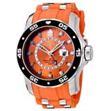 Invicta 6990 Men's Pro Diver GMT Swiss Orange Dial Orange Rubber Strap Watch