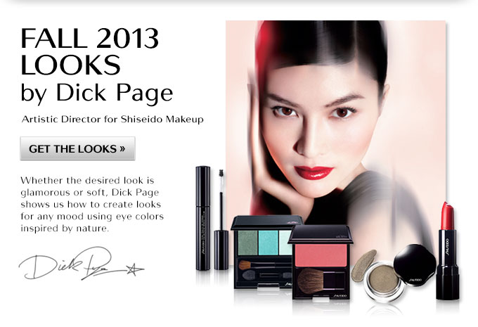Fall 2013 Looks By Dick Page Aritistic Director For Shiseido Makeup | Get The Looks | Whether the desired look is glamorous or soft, Dick Page shows us how to create looks for any mood using eye colors inspired by nature.