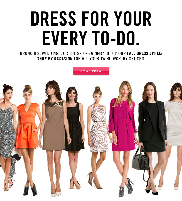 Fall Dress Spree: Shop by Occasion