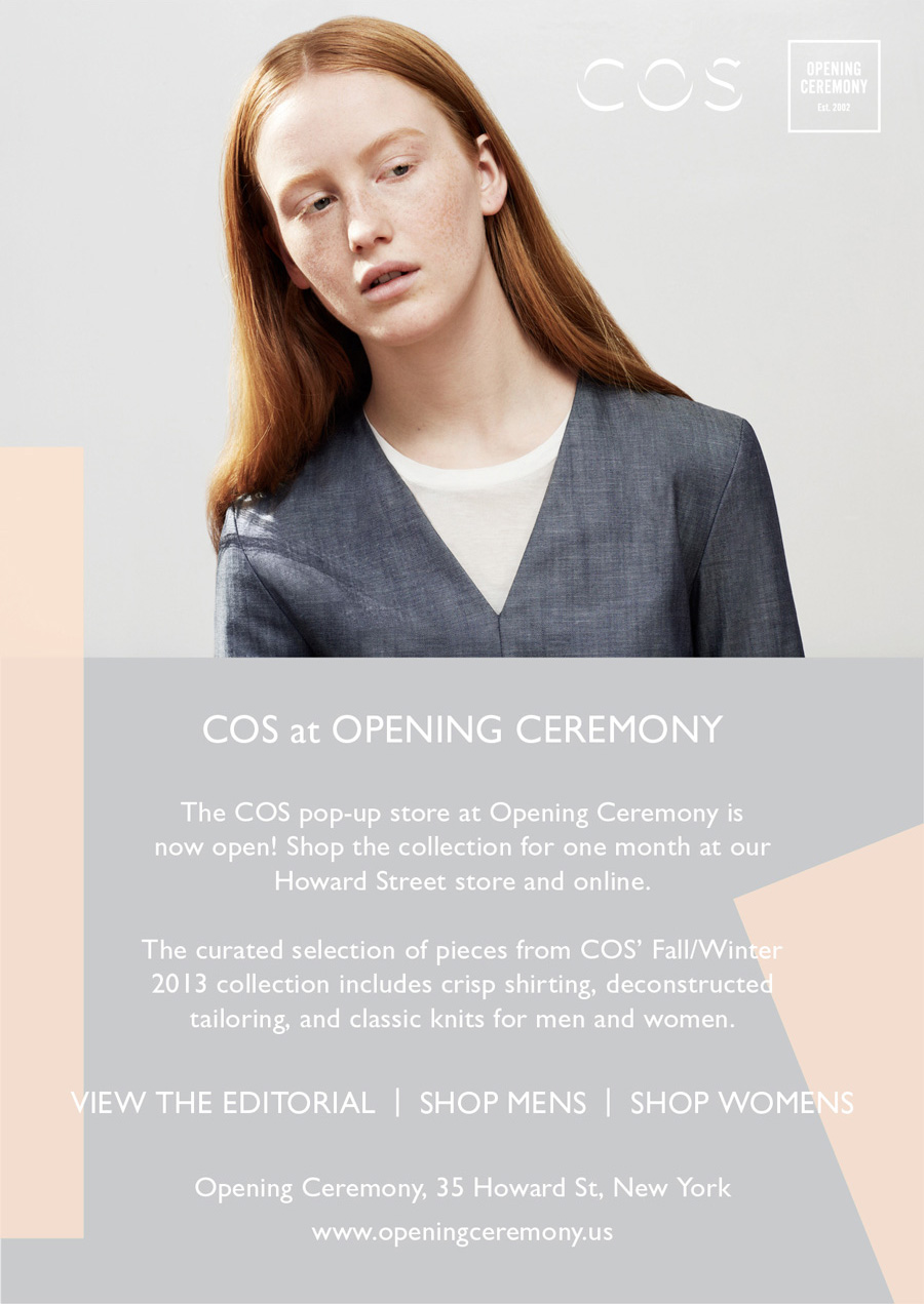 The COS pop-up store at Opening Ceremony is now open! Shop the collection for one month at our Howard Street store and online.