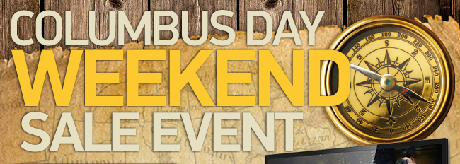 Columbus Day Weekend Sale Event