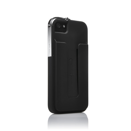 Leverage Case for iPhone 5/5S // Black, Matte + Credit Card Holder