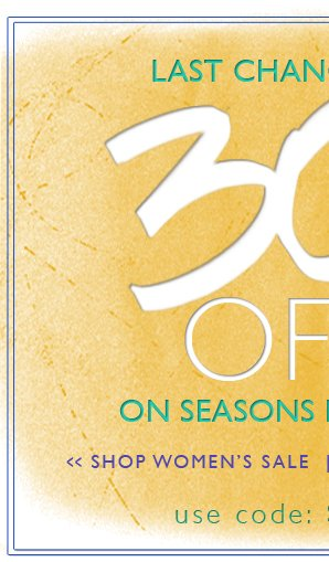 30% Off | The Sale Must Go On!