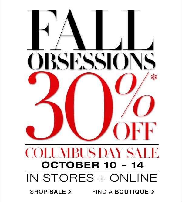 SHOP COLUMBUS DAY SALE