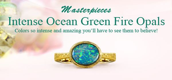 Masterpieces Intense Ocean Green Fire Opals