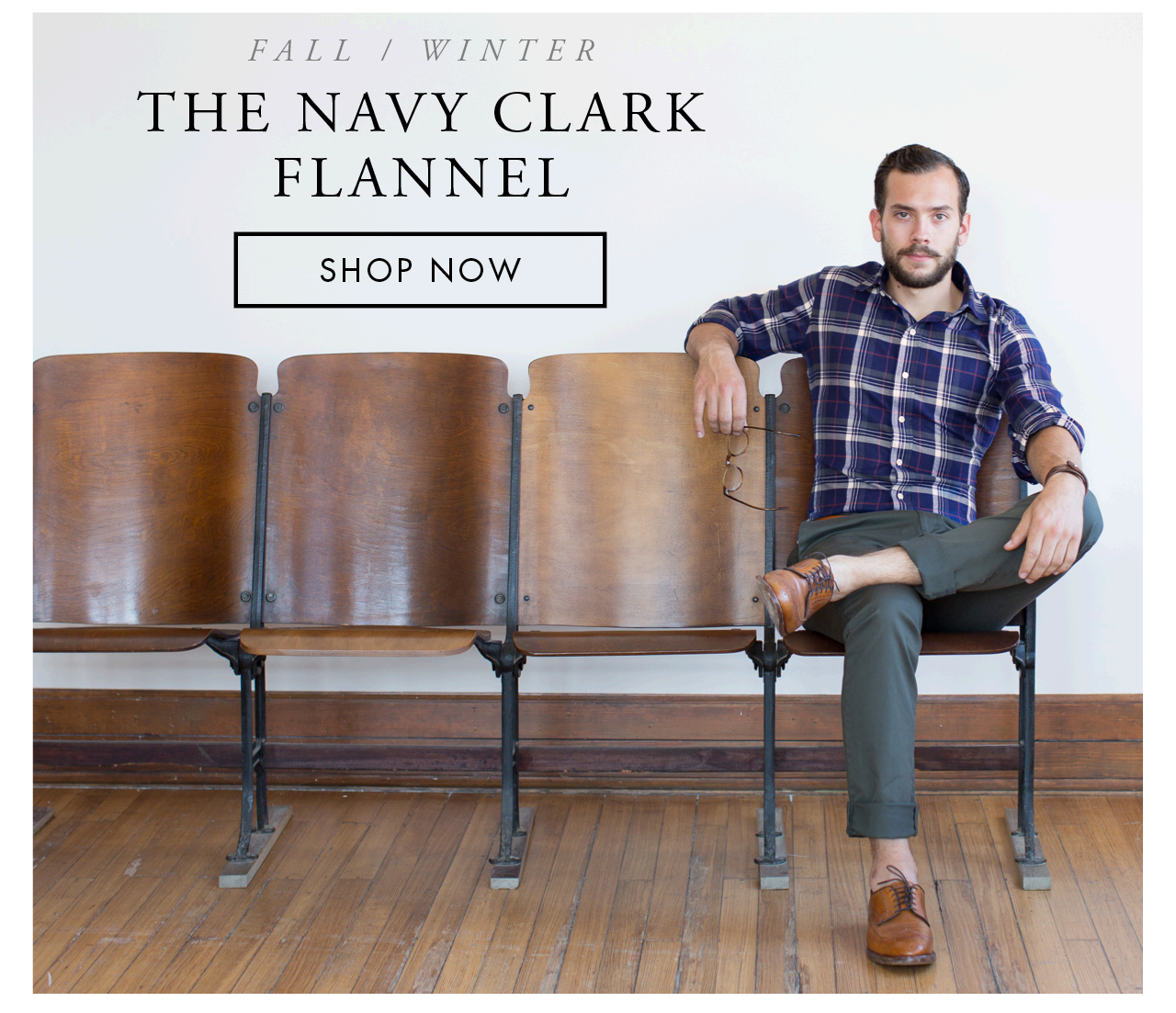 The Navy Clark Flannel