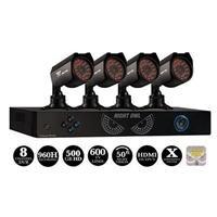 Adorama - Night Owl 8 Channel DVR with 500GB HDD & 4 Hi-Resolution Cameras