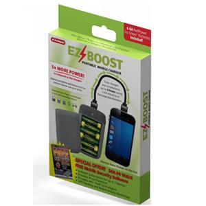 Adorama - PerfPower EZ Boost Portable Mobile Charger - with 6 AA Batteries and 18 USB to Micro-USB Cable