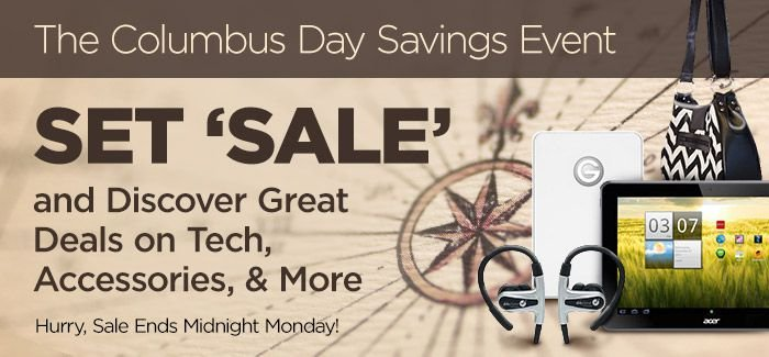 The Columbus Day Savings Event