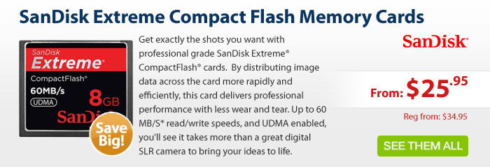 Adorama - SanDisk Extreme Compact Flash Memory Card