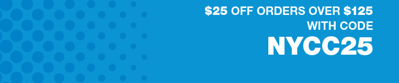 $25 off orders over $125 with code NYCC25