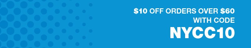 $10 off orders over $60 with code NYCC10