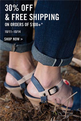30% off & free shipping on orders of $100+ *