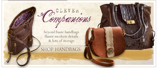 Clever Companions.  Beyond basic handbags flaunt modern details & lots of storage.  Shop Handbags