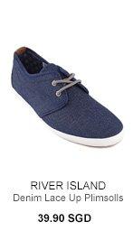 River Island Denim Plimsolls