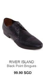 River Island Black Brogues