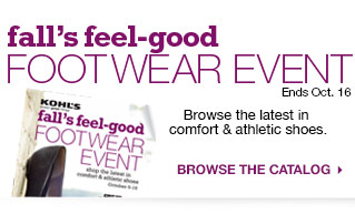 Fall's Feel-good Footwear Event browse the latest in comfort & athletic shoes. browse the catalog. Ends Oct. 16.