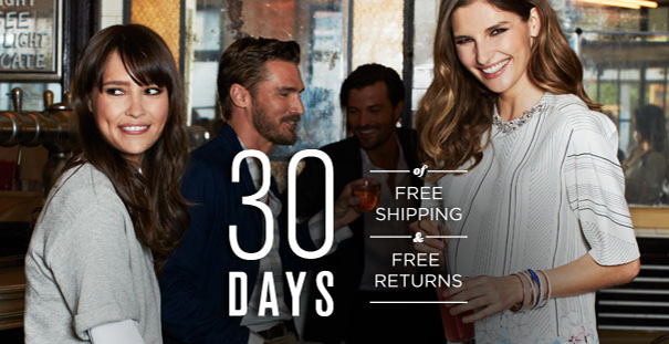 30 DAYS FREE SHIPPING FREE RETURNS