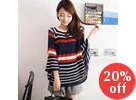 Cape Striped Open-Knit Top