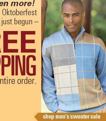Shop men's sweater sale.