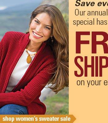Shop women's sweater sale.